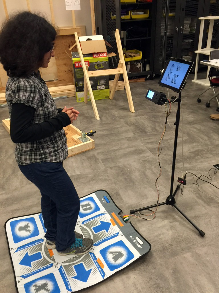 Farheen testing the stomp interface...